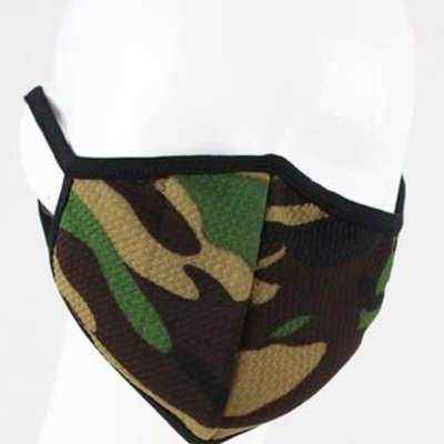 Clothing of America Adult Dark Camo Mask (Not Medical Grade)