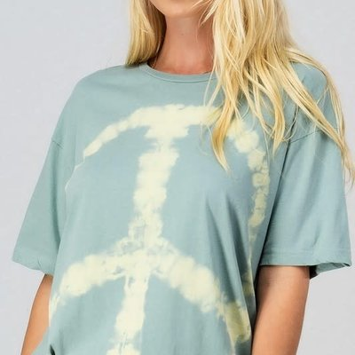 trend notes Mint Tie Dye Peace Sign Tee (S-L)