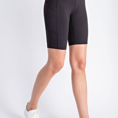 Rae Mode Black Spandex Shorts with Side Pocket (S-3XL)