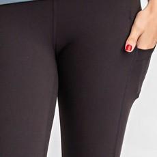 Rae Mode Black Spandex Capri Leggings (S-3XL)