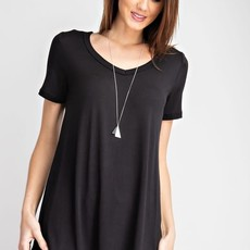 Rae Mode Black Basic V-Neck Top (S-3XL)