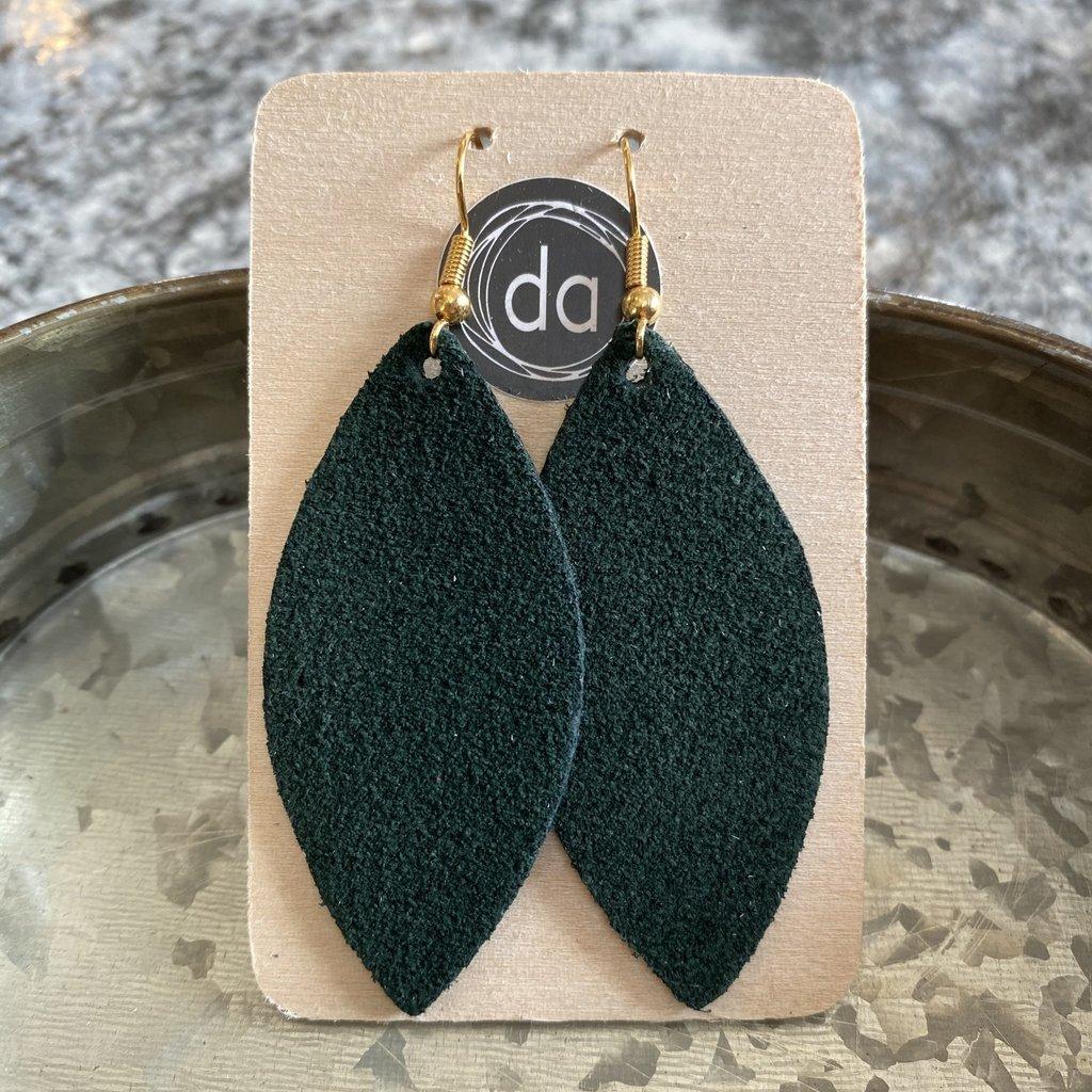 Deer Addie Deer Addie Suede Forest Green Earrings