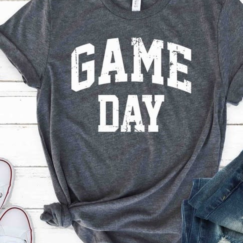 Kissed Apparel Charcoal Game Day Tee (S-3XL)
