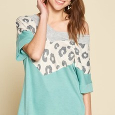 Oddi Sage French Terry Leopard Top (S-3XL)