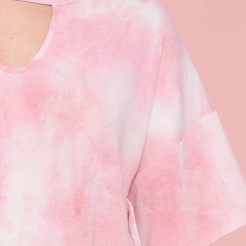 Oddi Bubble Gum Pink Keyhole Top (S-3XL)