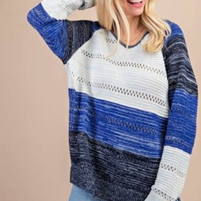 Kori Blue Mix Hooded Sweater