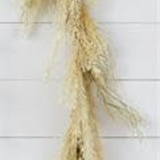 "Audrey's 56"" Natural Feather Garland"