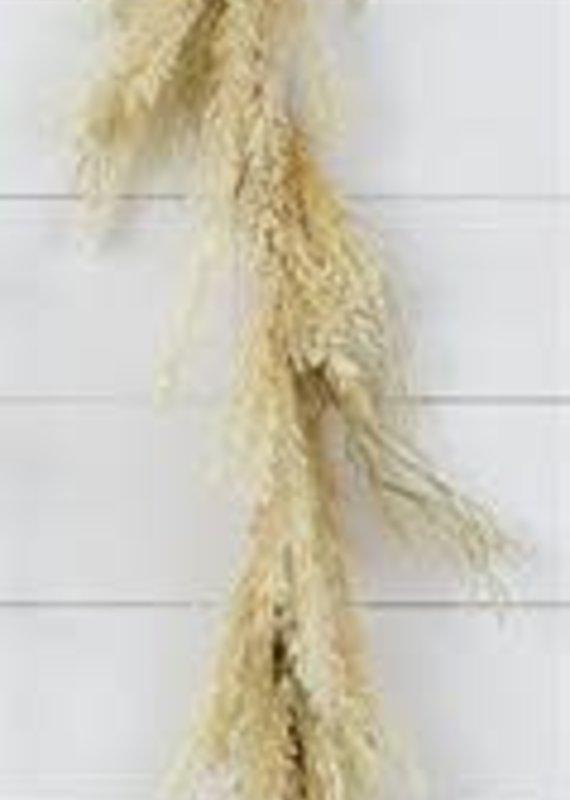 "Audrey's 56"" Natural Feather Garland"