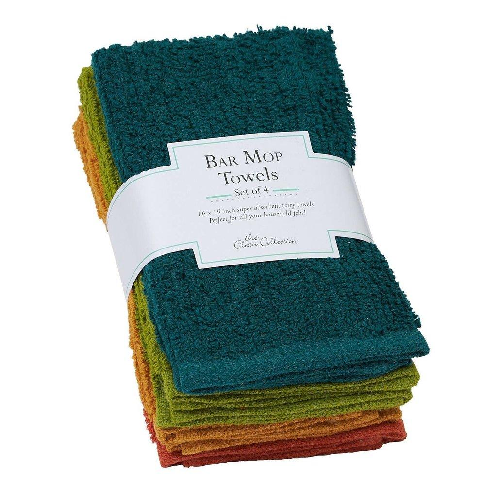 Design Imports Rustic Bar Mop Towels - Set of 4