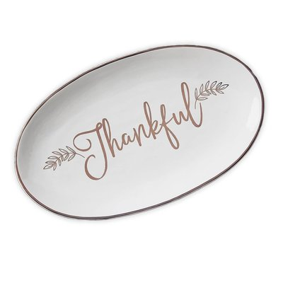 Design Imports Thankful Platter
