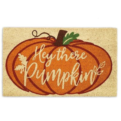 Design Imports Hey There Pumpkin Doormat