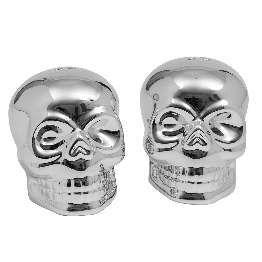 Design Imports Skull Ceramic Shakers (Set of 2)