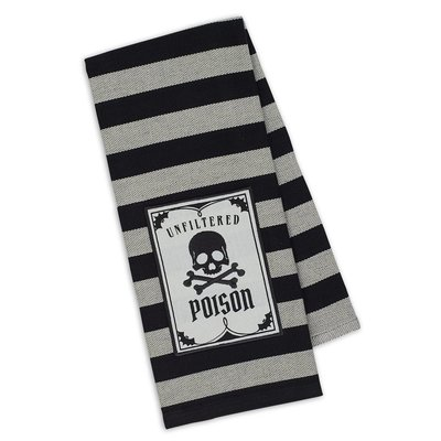 Design Imports Poison Embellished Dishtowel