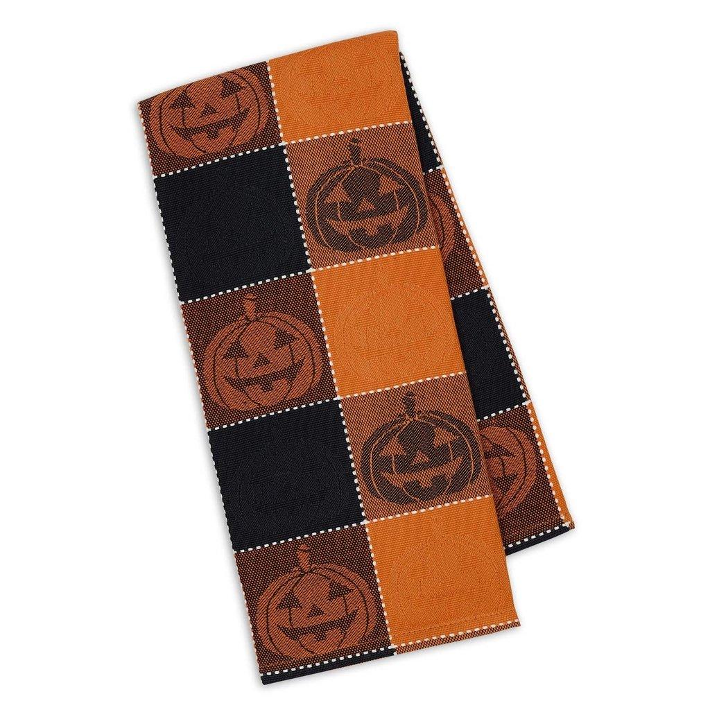 Design Imports Spooky Jack Jacquard Dishtowel
