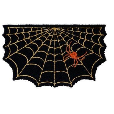 Design Imports Spooky Spider Web Doormat