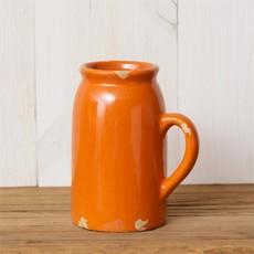 "Audrey's 5.5"" Orange Crackle Vase"