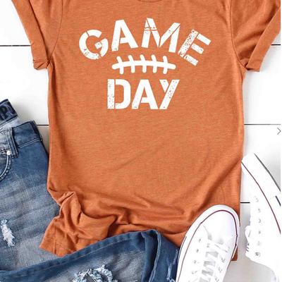 Kissed Apparel Game Day Football (2XL-3XL)