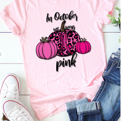 Kissed Apparel In October We Wear Pink (S-XL)