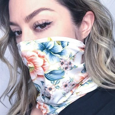 And the Why Floral Neck Mask