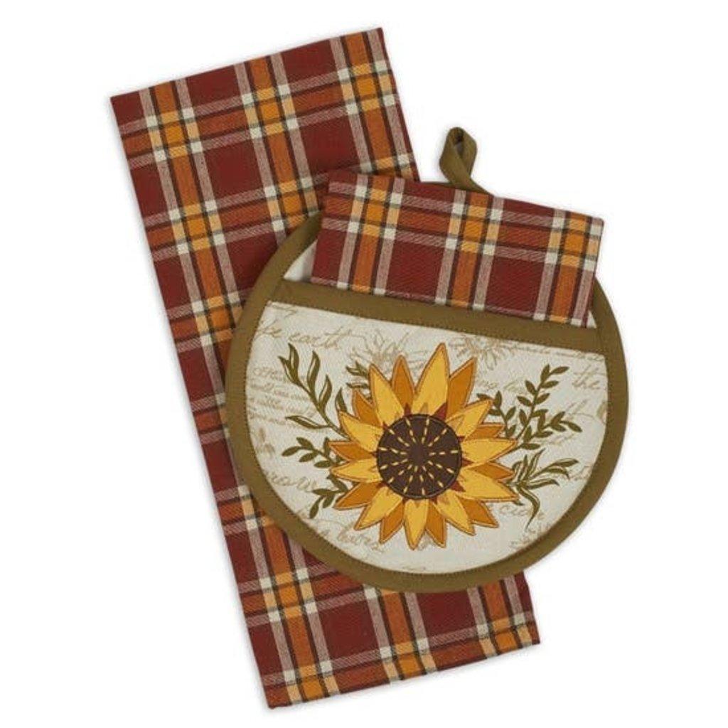 Design Imports Sunflower Potholder Gift Set