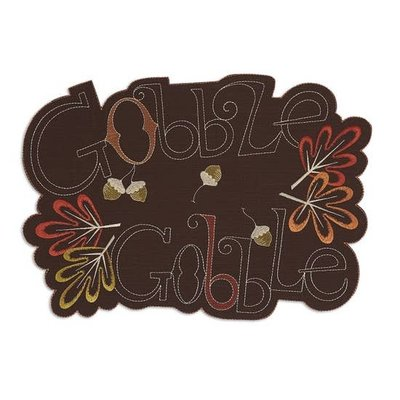 Design Imports Gobble Gobble Placemat