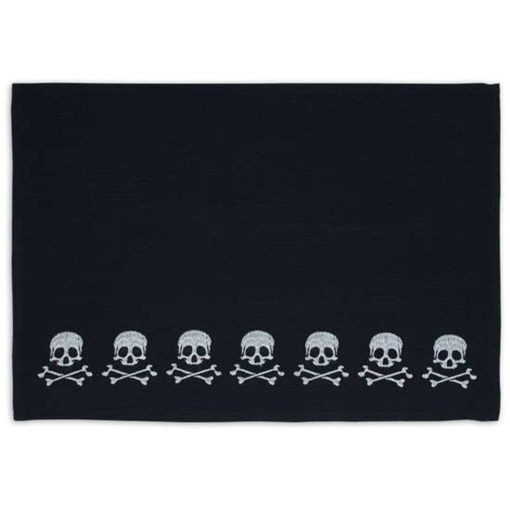 Design Imports Black Skulls Placemat