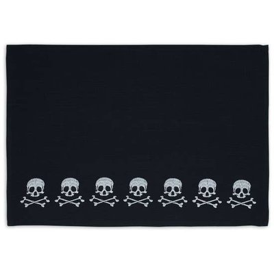 Design Imports Black Skulls Placemat