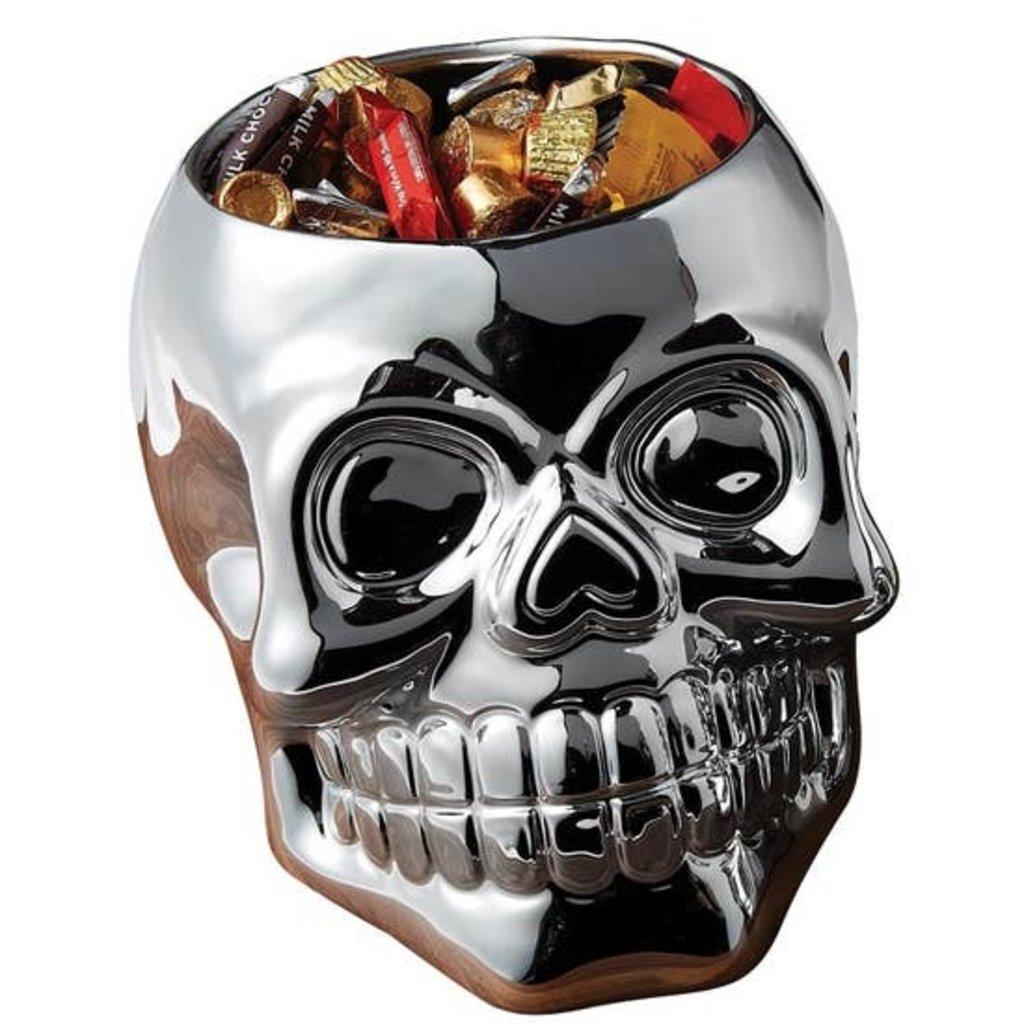 Design Imports Large Skull Candy Dish