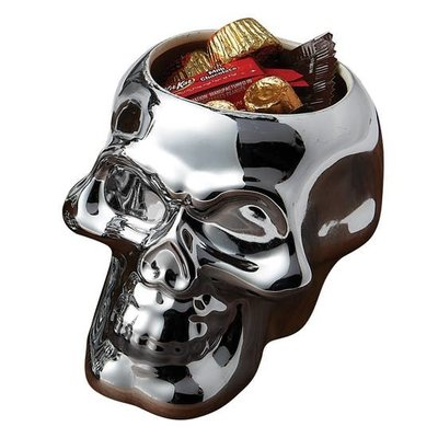 Design Imports Small Skull Candy Dish