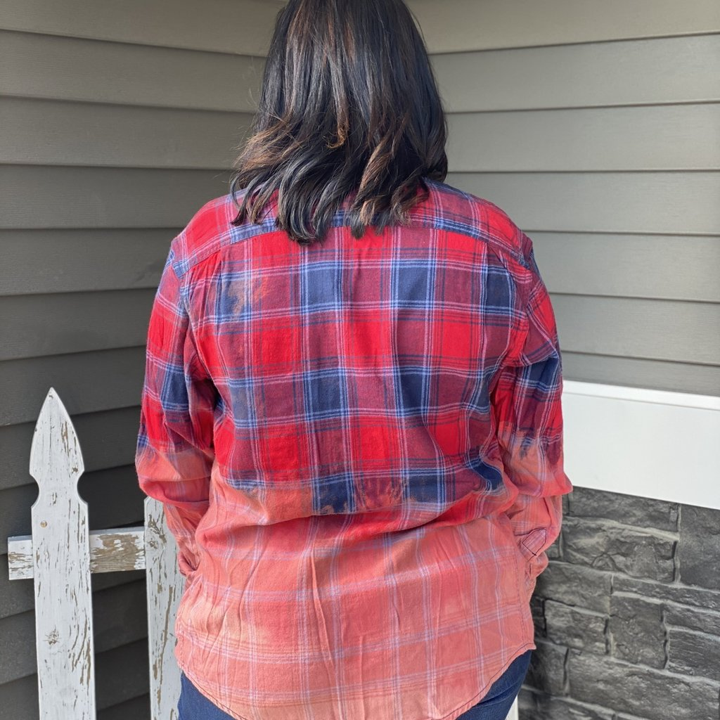 Southern Swank American Way Bleached Unisex Flannel (S-2XL)