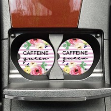 Mugsby Caffeine Queen Car Coaster Set