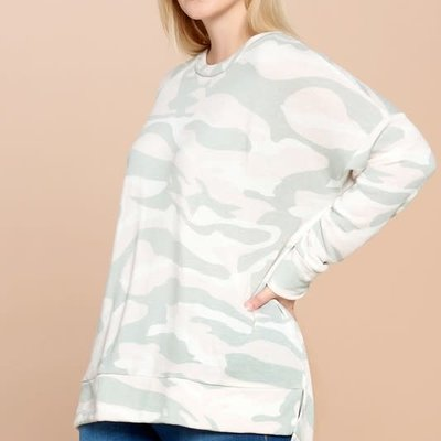 White Birch White Camo Long Sleeve Tunic (S-3XL)