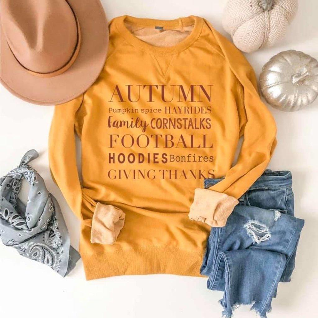 Costa Threads Mustard Autumn French Terry Crew (S-3XL)