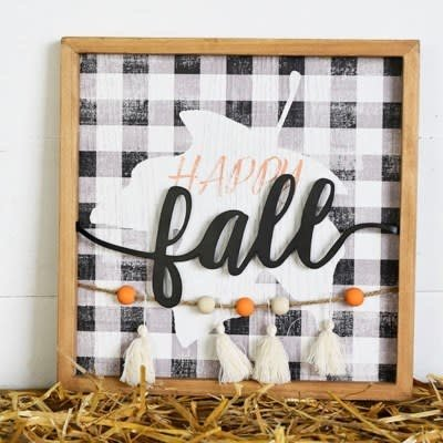 "Pd Home & Garden 12"" Happy Fall Sign"