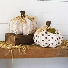 "Pd Home & Garden 12"" Brown Ivory Farmhouse Pumpkins"