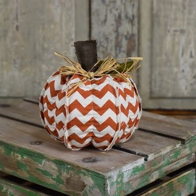 "Pd Home & Garden 12"" Chevron Orange Pumpkin"