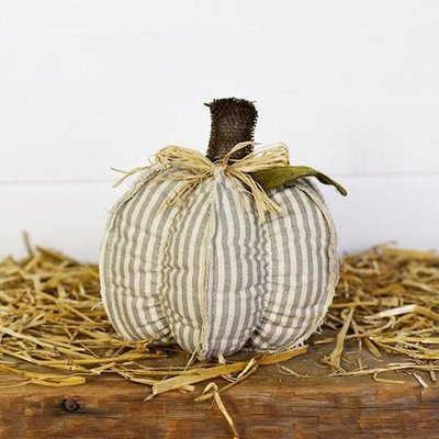 "Pd Home & Garden 9"" Grey Stripe Pumpkin"