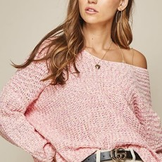 Andree by Unit Pink V-Neck Sweater (S-3XL)