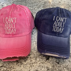 Your Fashion Wholesale I Can't Adult Today Vintage Hat (Pink or Navy)