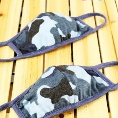 Clothing in America Kids Blue Camo Mask
