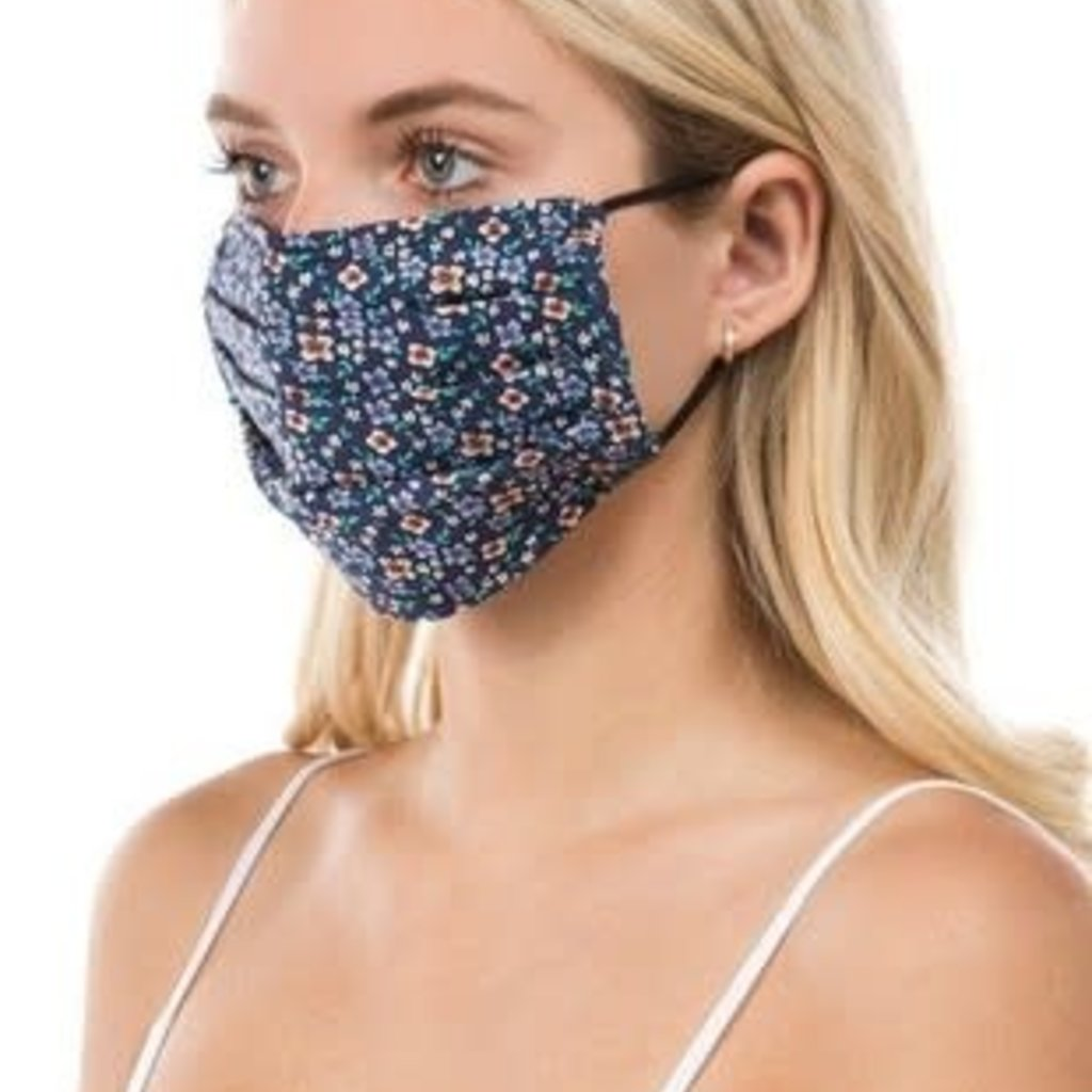 Clothing of America Adult Navy Floral Mask