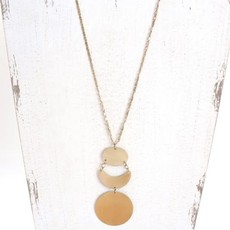 Panache Gold Long Geometric Necklace