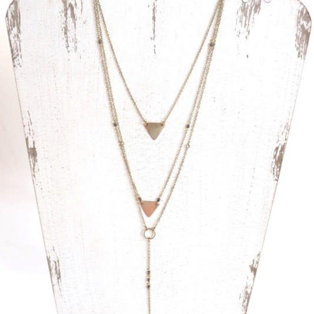 Panache Long Gold Layered Necklace