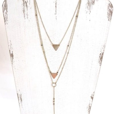 Panache Long Gold Layered Necklace