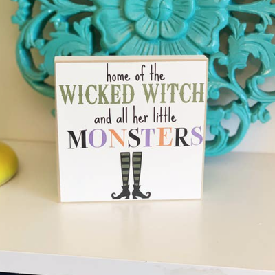 LTB Mini Home of the Wicked Witch Sign