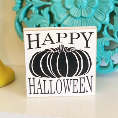 LTB Mini Happy Halloween Pumpkin Sign