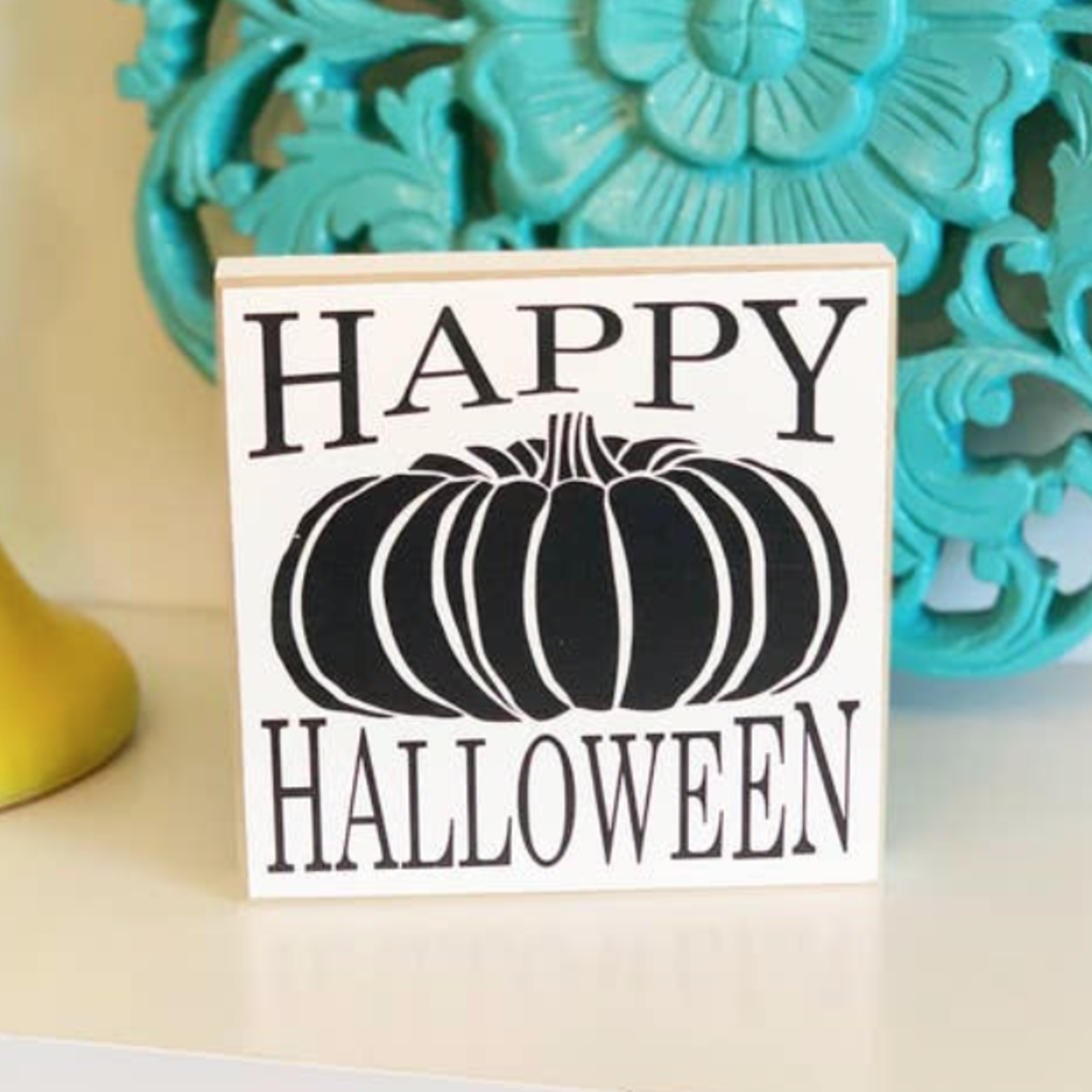 LTB Mini Happy Halloween Pumpkin Sign