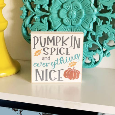 LTB Mini Pumpkin Spice Sign