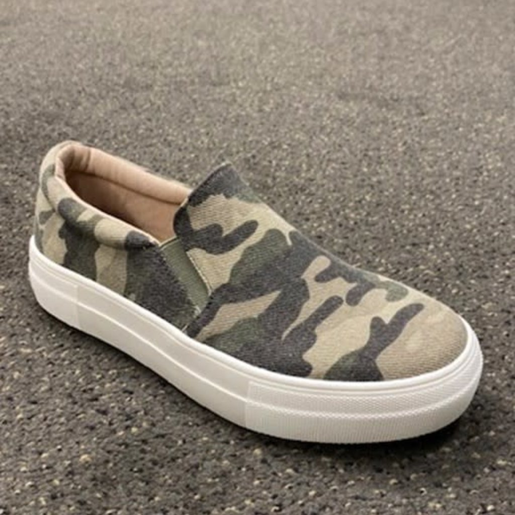 Soda Brand Soda Brand Camo Slip On Shoes