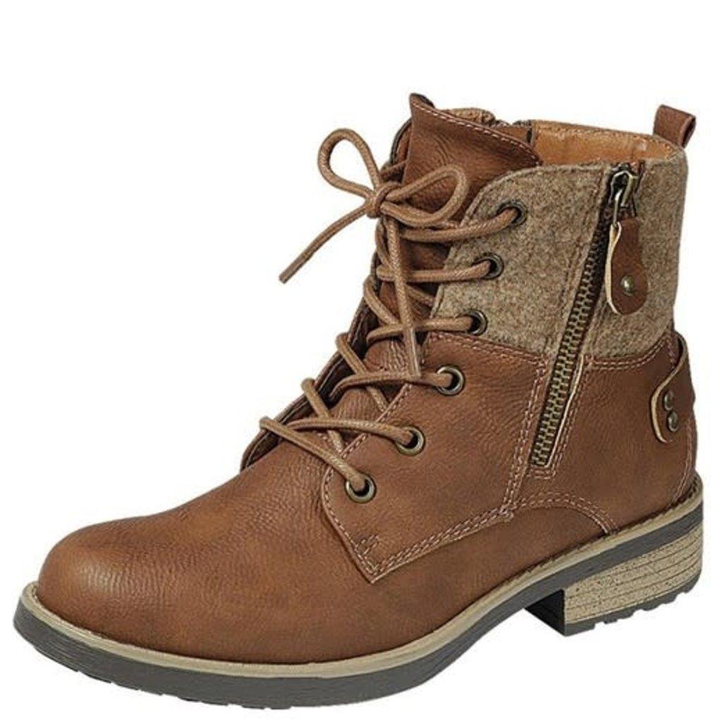 LA Shoe King Tan Autumn Boots